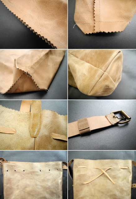Easy Diy Leather Backpack Shelterness