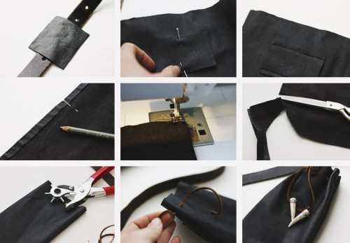 Easy Diy Leather Pouch With Chain