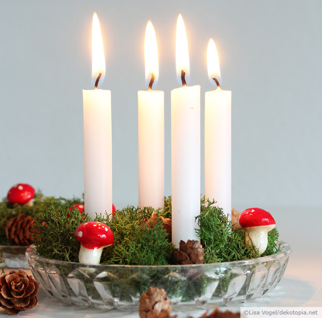 Picture Of easy diy mini advent decoration for christmas  1