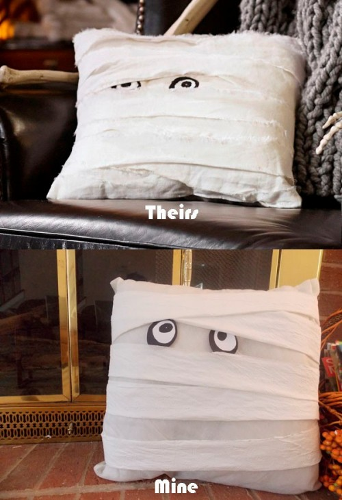 Easy Diy Mummy Pillow For Halloween