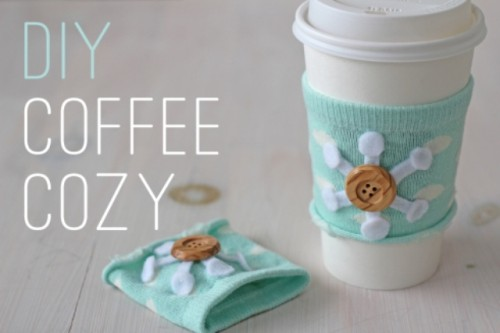 Easy DIY No Sew Coffee Cozy