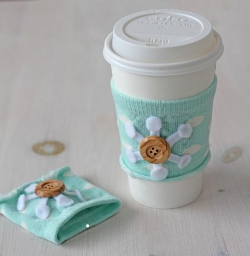 Easy Diy No Sew Coffee Cozy