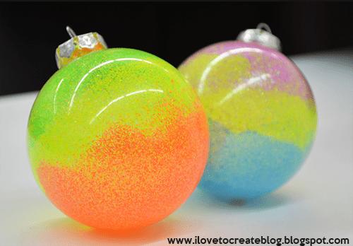 ombre neon swirl ornaments (via ilovetocreateblog)