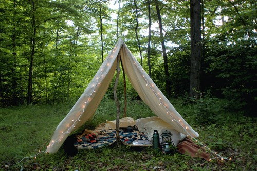 diy canvas tent