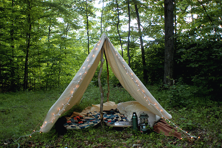 9 Easy DIY Outdoor Tents and Teepees