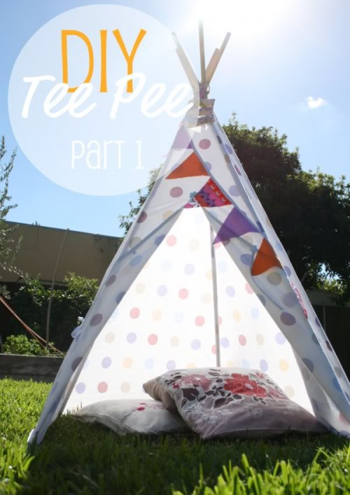 9 easy diy outdoor tents and teepees shelterness