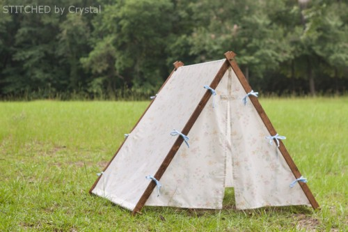 collapsible fabric tent for kids (via makeit-loveit) & 9 Easy DIY Outdoor Tents and Teepees - Shelterness