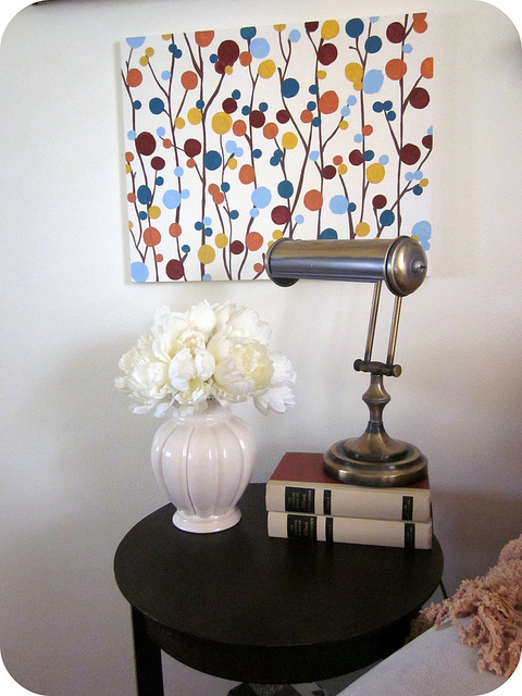 Easy diy painted wall art piece shelterness
