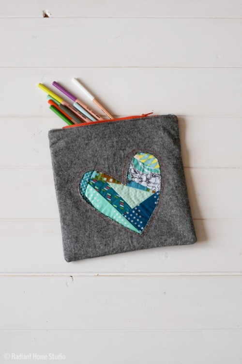 patchwork heart zipper pouch (via radianthomestudio)