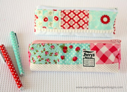patchwork pencil case (via aspoonfulofsugardesigns)