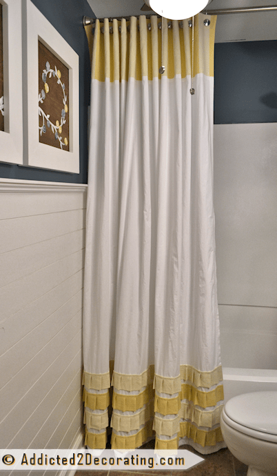 curtain with ruffled accents (via addicted2decorating)