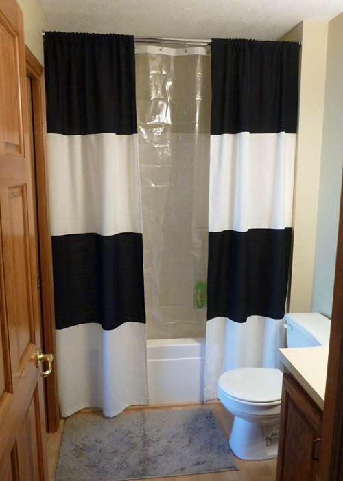 black and white shower curtain (via https:)