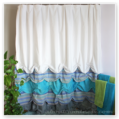 colorful ruffles curtain (via aboutgoodness)