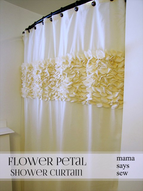 flower petal shower curtain (via mama-says-sew)
