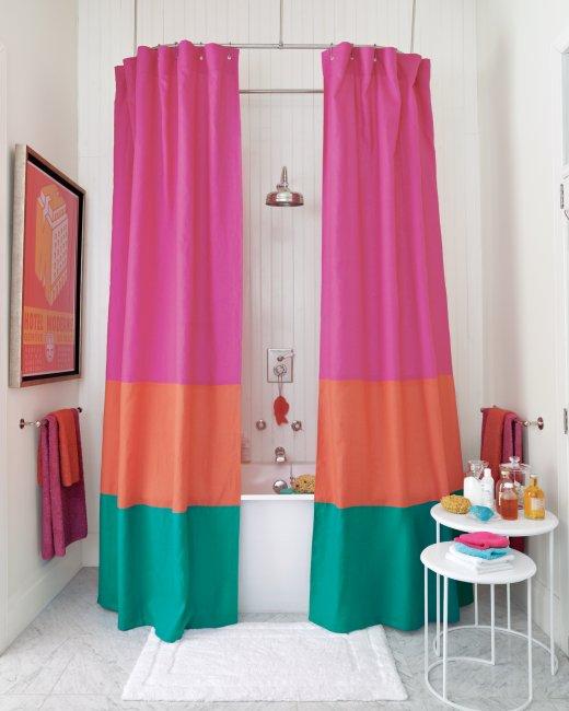 color block curtain