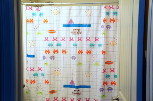fun shower curtain (via idlewife)