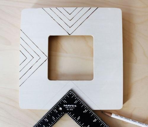 Easy DIY Wood Burned Photo Frames