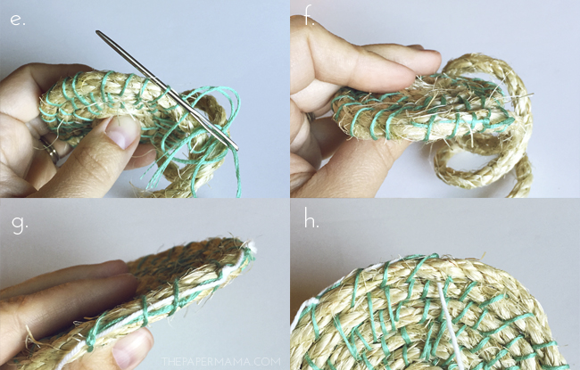 Picture Of easy diy woven rope baskets for storage  4
