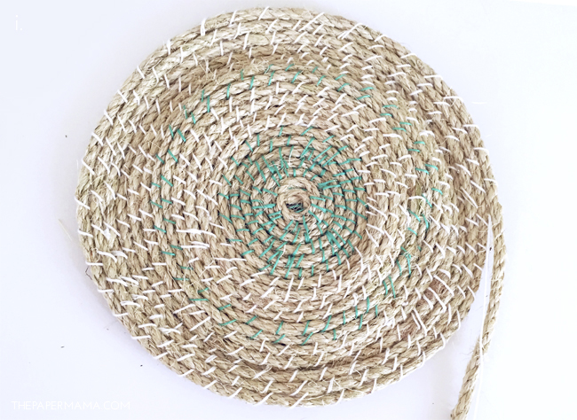 Picture Of easy diy woven rope baskets for storage  5