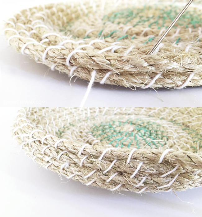 Picture Of easy diy woven rope baskets for storage  6