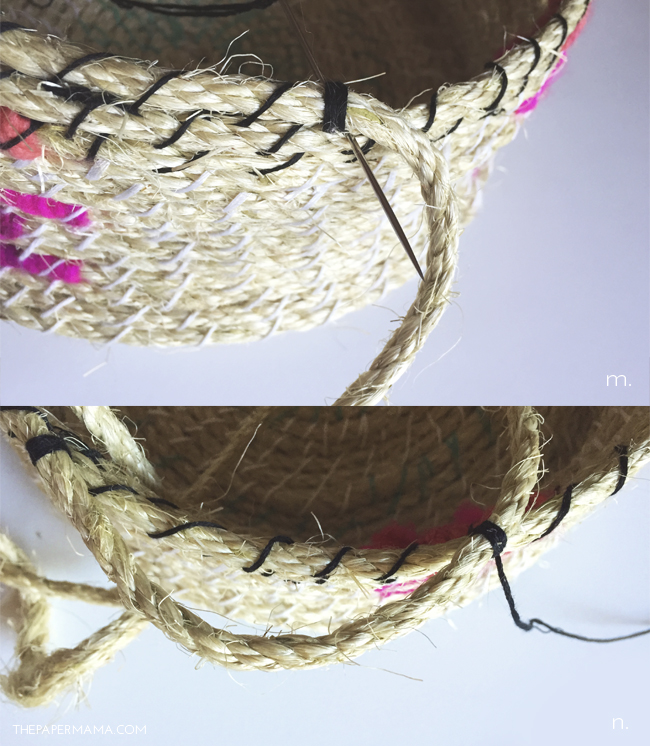 Picture Of easy diy woven rope baskets for storage  7