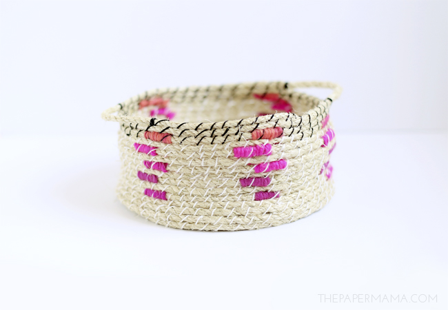 Picture Of easy diy woven rope baskets for storage  8