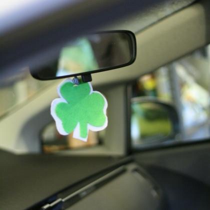 shamrock car air freshener (via spoonful)