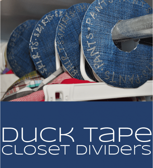 duck tape closet dividers (via inthenext30days)