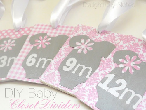 pink baby closet dividers (via delightfullynoted)