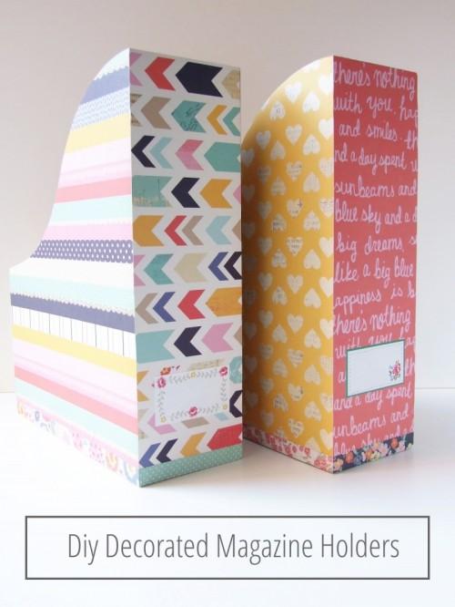 12 Easy To Make DIY Magazine Racks Shelterness