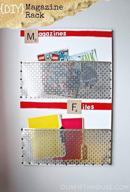 metal magazine rack (via ourfifthhouse)