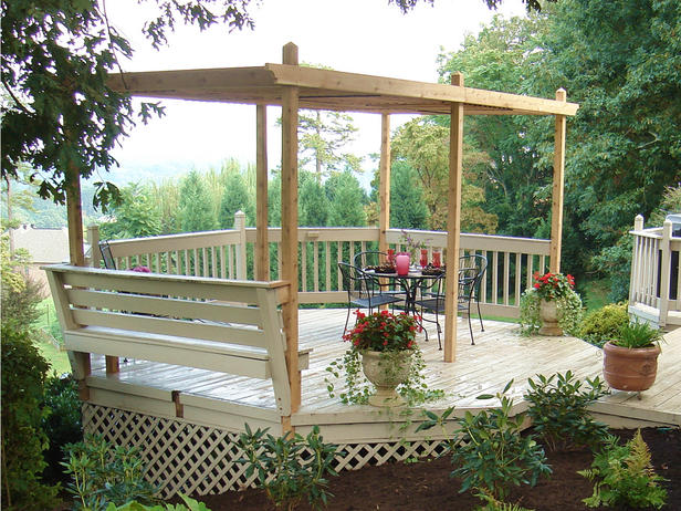 pergola with adjustable wooden panels
