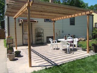 simple patio pergola plans