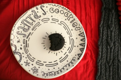 Santa cookies plate (via thefirstlime)