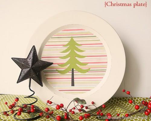 colorful Christmas plates (via craftaholicsanonymous)