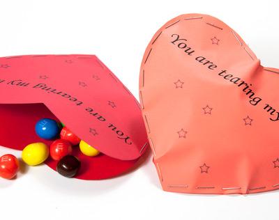 DIY paper candy heart