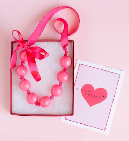 valentine gumball necklace