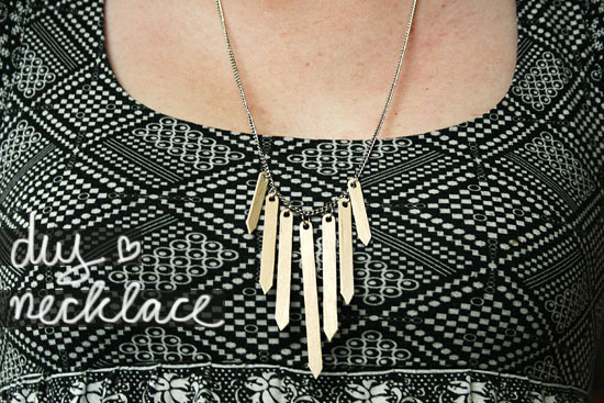 coffee stirrers necklace