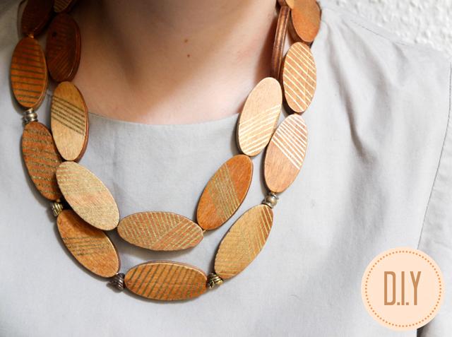 wooden trivet necklace