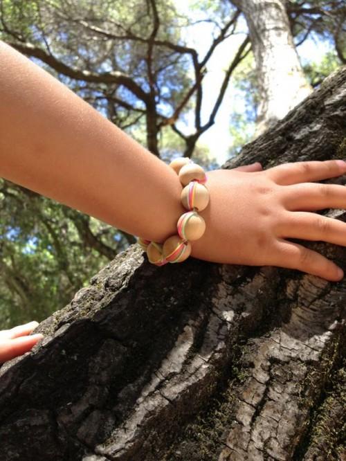 wooden beads bracelet (via playfullearning)