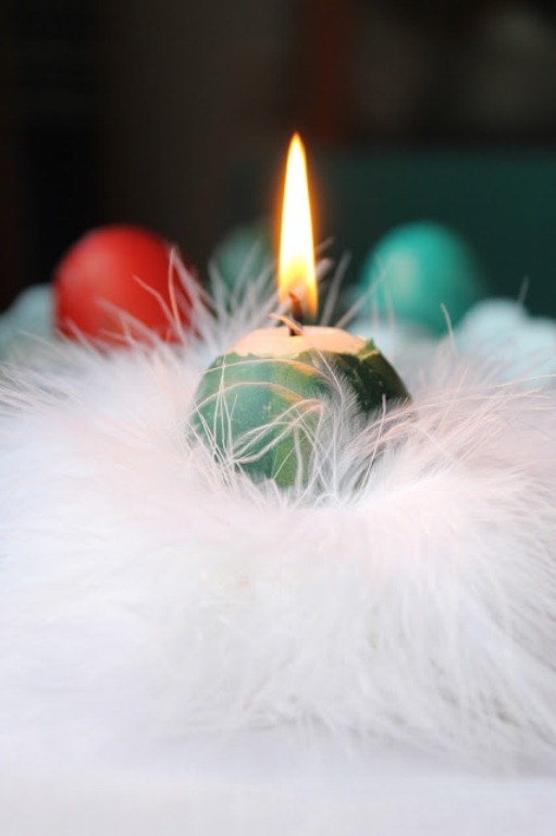 Egg Shaped Easter Candles