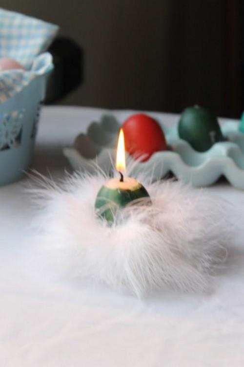 Свеча - пасхальное яйцо