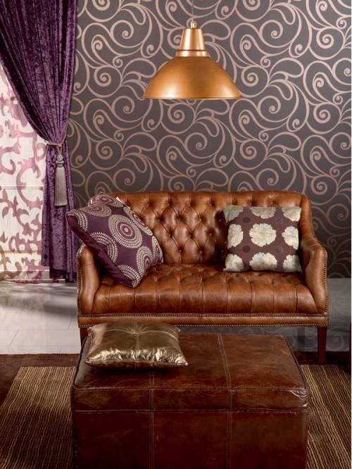 Eggplant Living Room Design