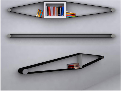 Flexible Bookshelf That Stretches Around Books