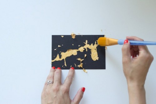 Elegant Diy Black And Gold Halloween Postcards
