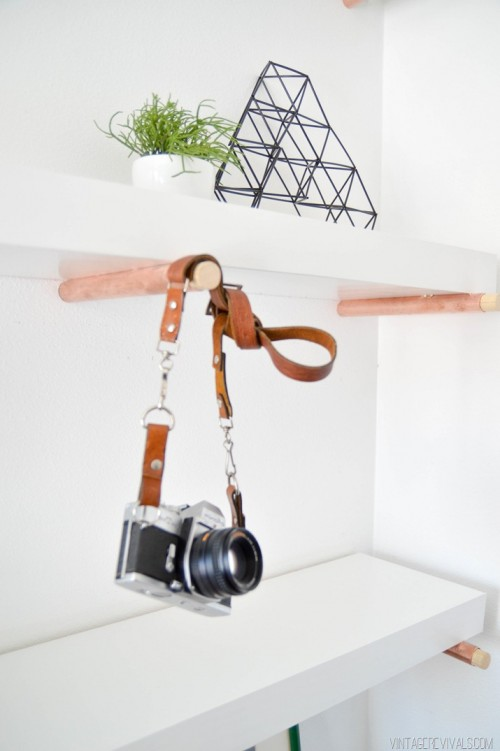 Elegant DIY Copper Peg Shelves