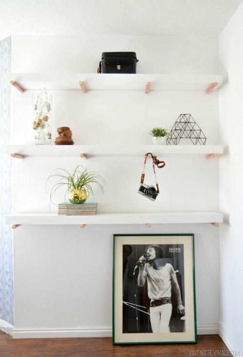 Elegant Diy Copper Peg Shelves