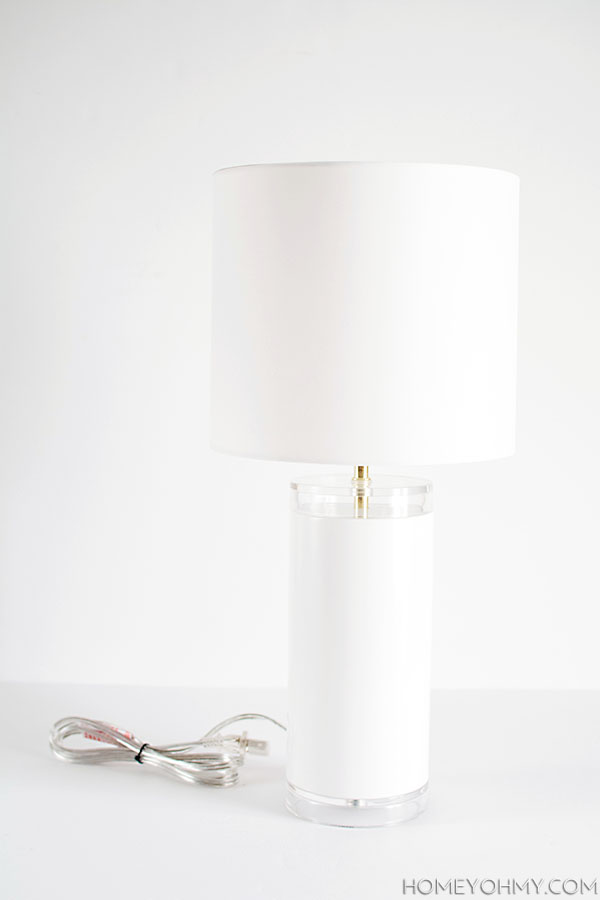 Picture Of elegant diy faux marble table lamp  4