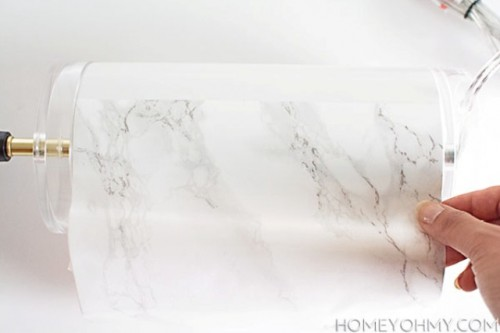 Beau Elegant DIY Faux Marble Table Lamp