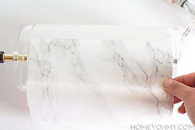 Picture Of elegant diy faux marble table lamp  6